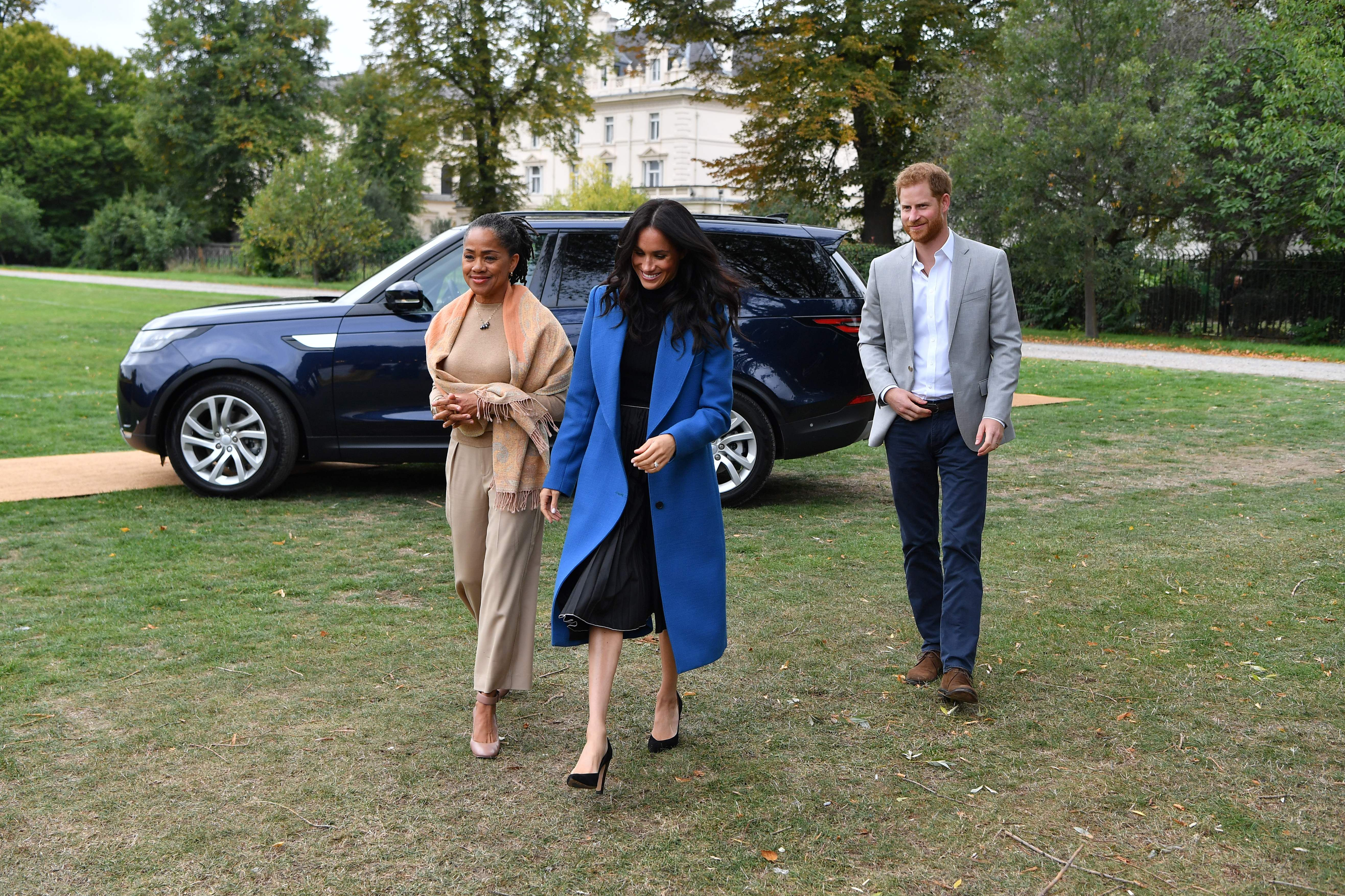 Meghan Markle, Doria Ragland and Prince Harry