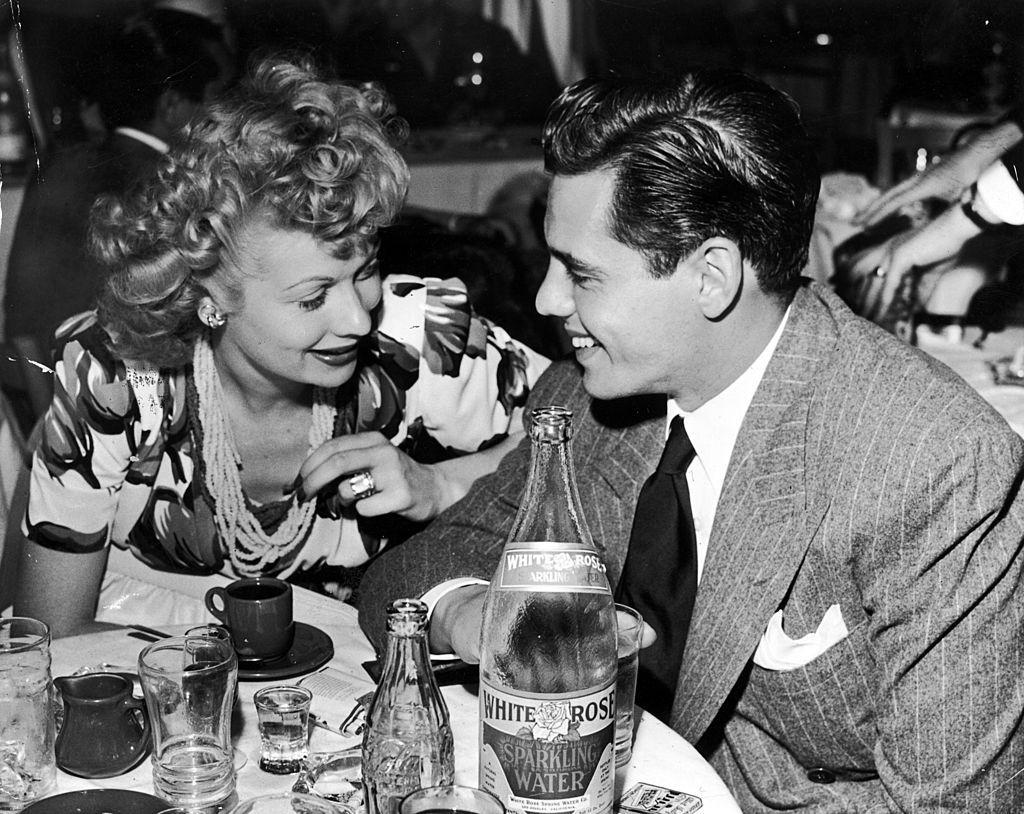 Lucille Ball & Desi Arnaz during happier times, 1942