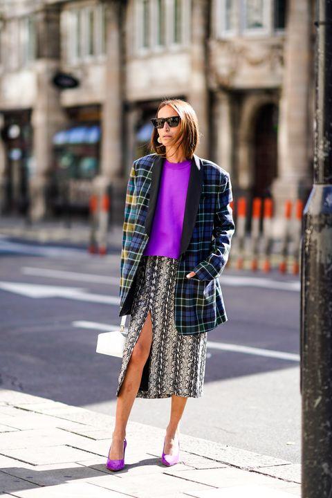 tendenze moda autunno 2018, come indossare il blazer, blazer tartan autunno 2018