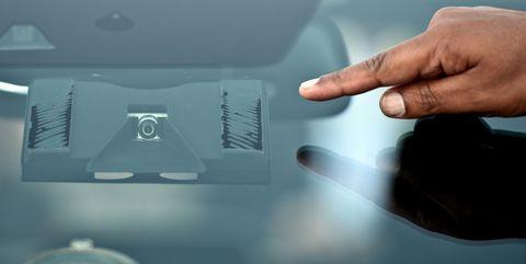 Hand, Finger, Technology, Windshield, Automotive window part, Glass,