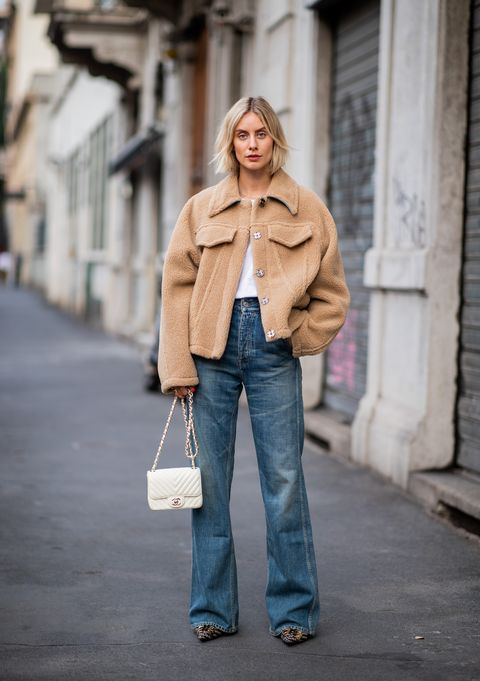 Clothing, Jeans, Street fashion, Photograph, White, Fashion, Denim, Snapshot, Standing, Beige,