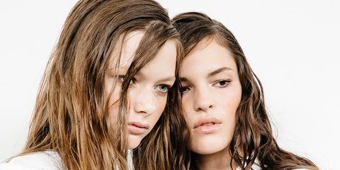 Hair, White, Face, Hairstyle, Skin, Long hair, Beauty, Brown hair, Lip, Blond,