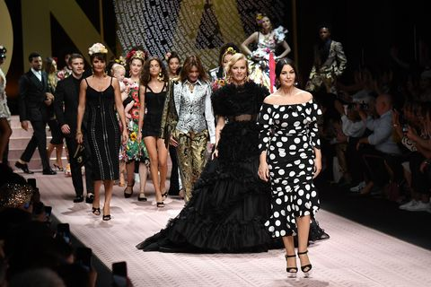 9c9485d1 Lady Kitty Spencer, Carla Bruni, Maye Musk & More Walked Dolce ...