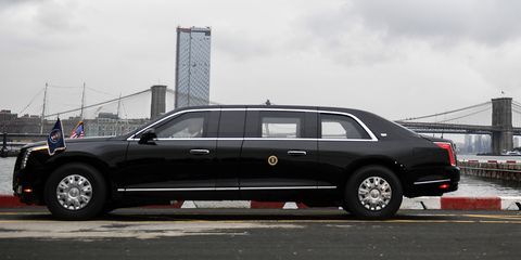 New Presidential Limo President Trump Gets Cadillac