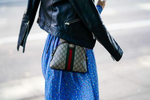 Blue, Cobalt blue, Street fashion, Clothing, White, Leather, Fashion, Electric blue, Outerwear, Leather jacket,