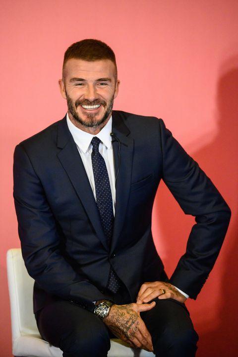 7f5804e6dba David Beckham Shows Off Newly-Dyed Buzz Cut One Week After Victoria ...
