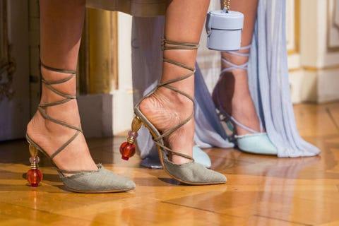 Footwear, Shoe, Leg, High heels, Human leg, Ankle, Sandal, Joint, Foot, Human body,