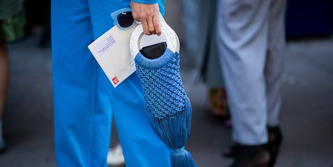 Blue, Street fashion, Turquoise, Fashion, Human, Footwear, Electric blue, Leg, Shoe, Hand,