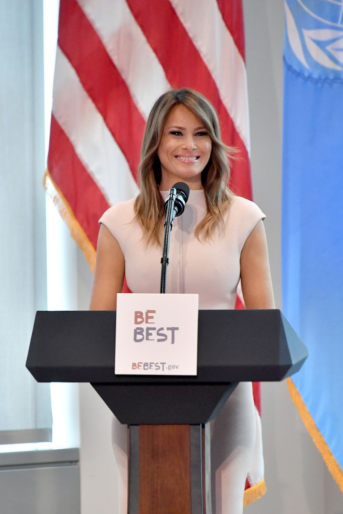 ded00ca9d78f1 Melania Trump Wore a Hat With Ties to Colonialism on Her Trip to Kenya