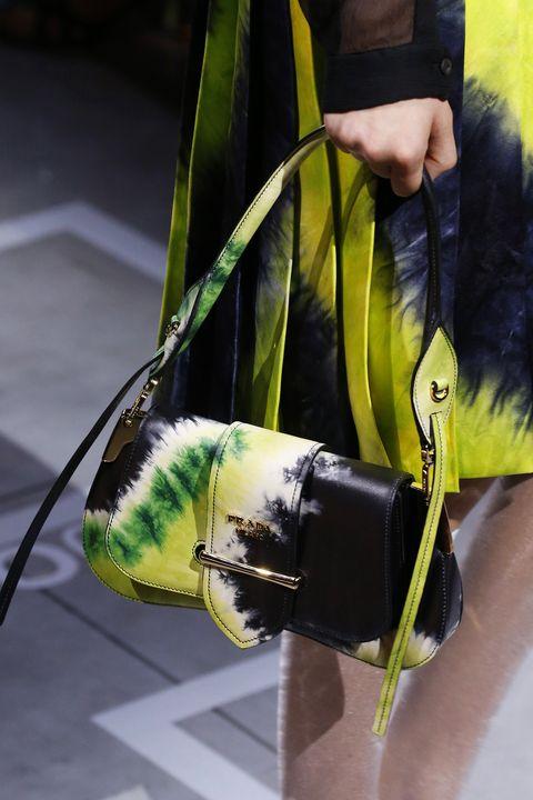 Green, Yellow, Bag, Handbag, Plant, Fashion accessory, Flower, Art,