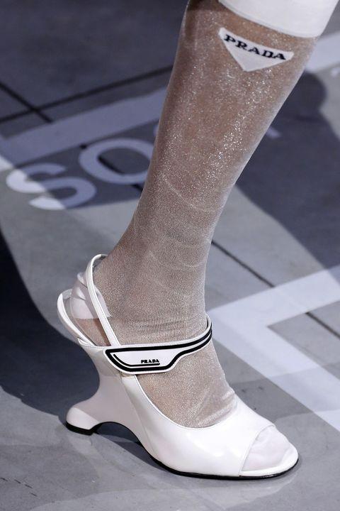 Footwear, White, Shoe, Fashion, Leg, Brown, High heels, Boot, Human leg, Beige,