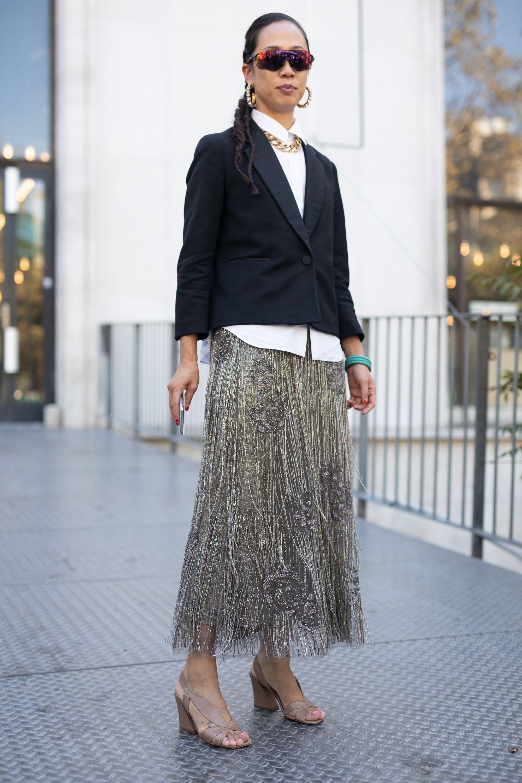 ecd8014e8 Pollera Negra Larga Fiesta | Wig Elegance