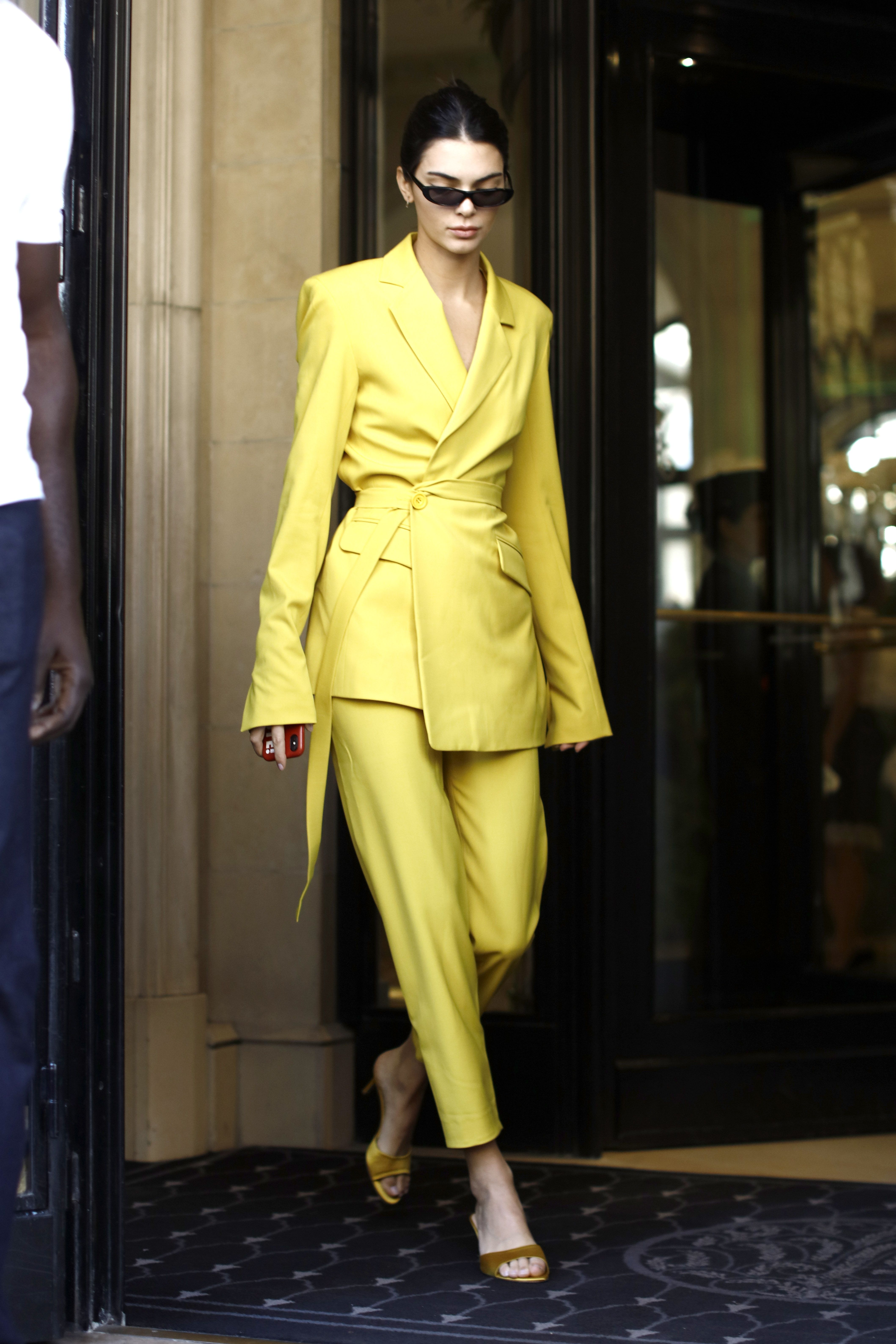 Kendall Jenner House of Holland yellow suit