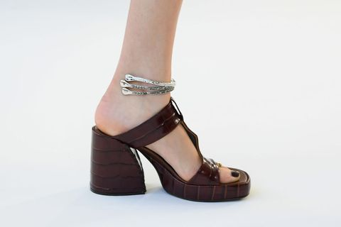 Footwear, High heels, Shoe, Sandal, Ankle, Brown, Mary jane, Leg, Joint, Beige,