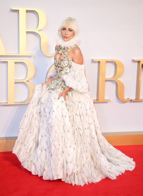 6a21b4dbe22ca8 Lady Gaga Wears Alexander McQueen to UK Premiere of  A Star Is Born