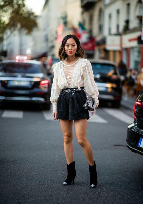 Street fashion, Photograph, Clothing, White, Fashion, Snapshot, Street, Footwear, Beauty, Waist,