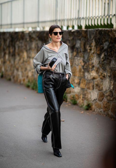 Street fashion, Clothing, Jeans, Fashion, Leather, Denim, Footwear, Eyewear, Leg, Trousers,