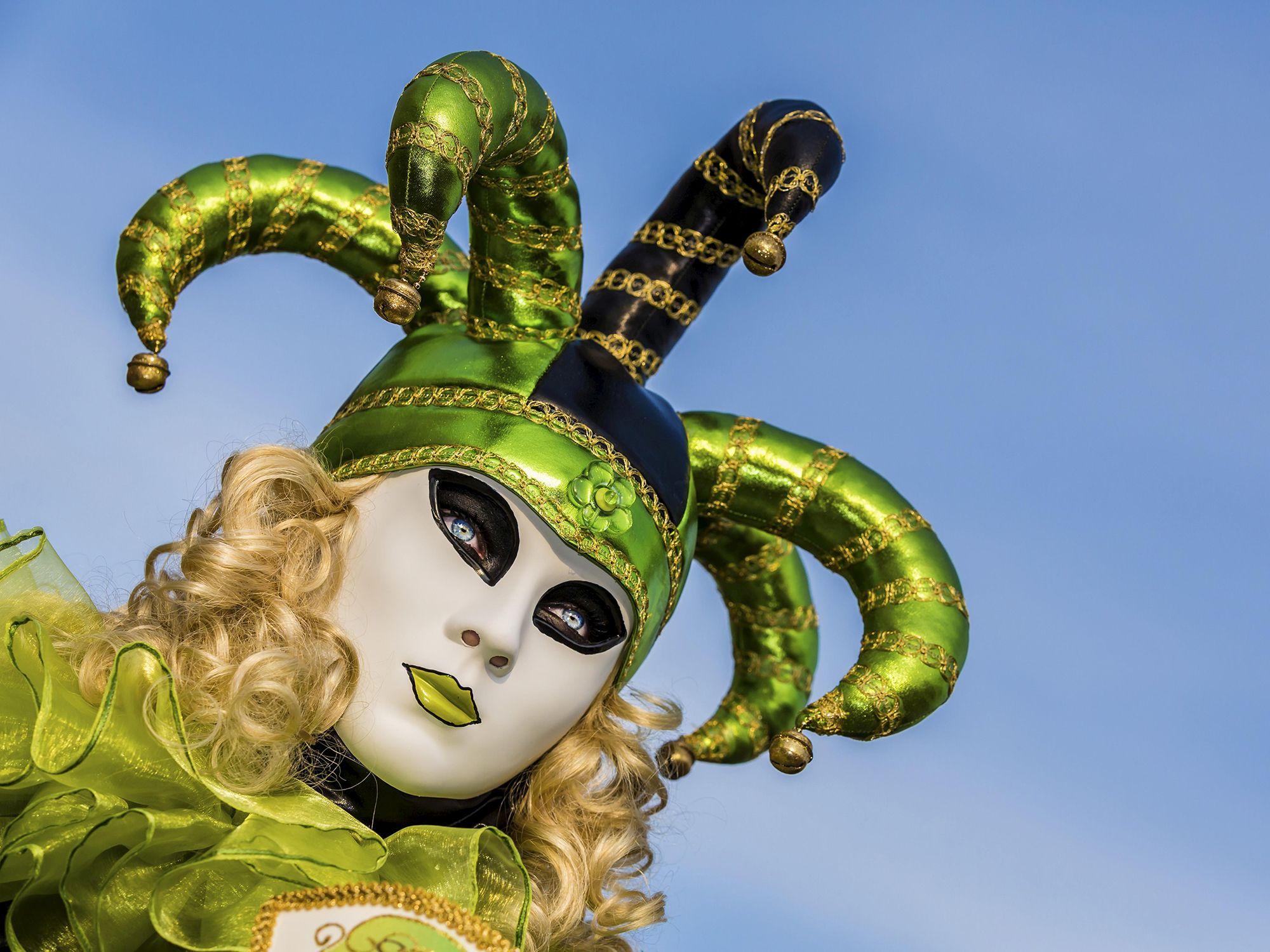 Máscara veneciana de mujer