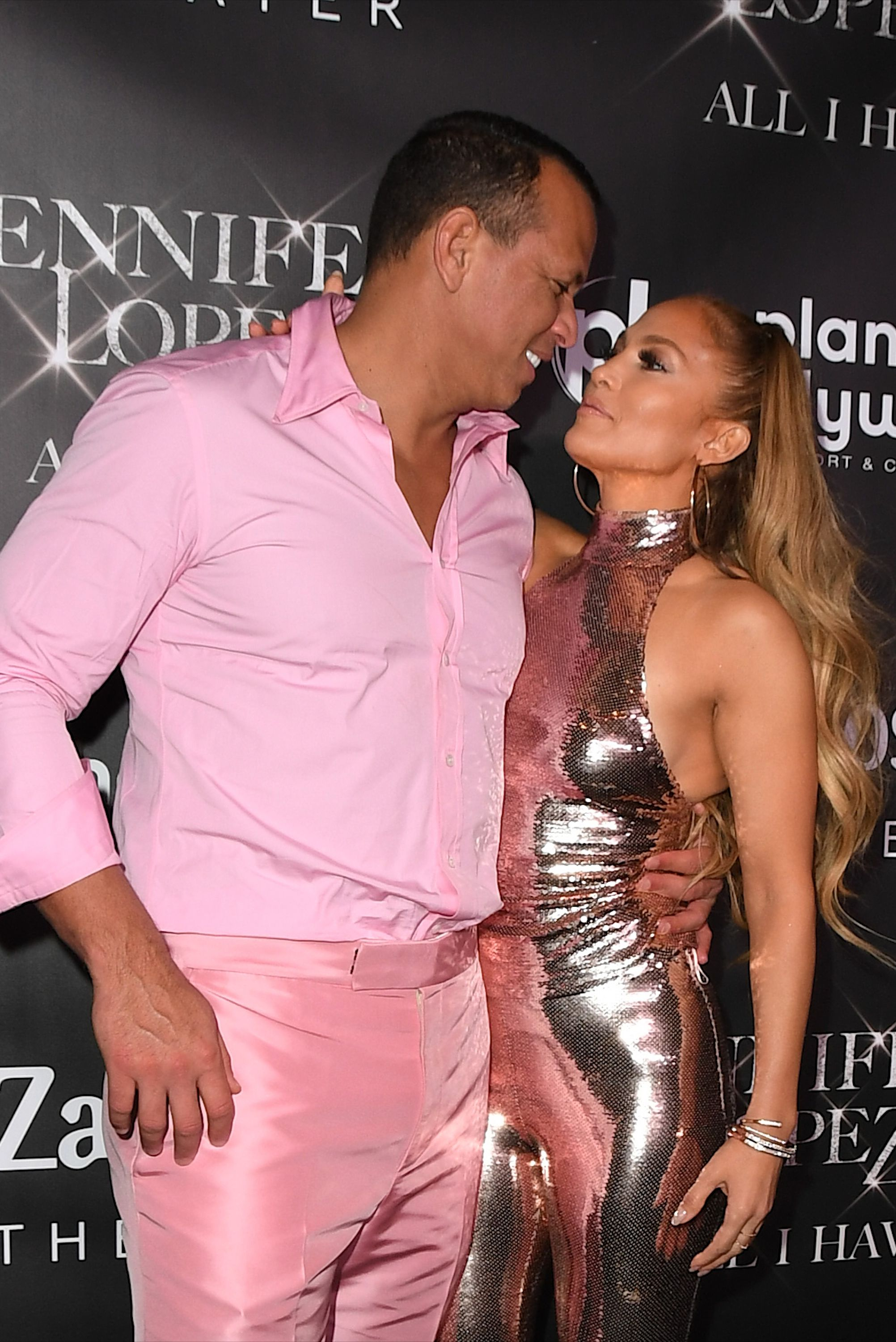 Jennifer Lopez and Alex Rodriguez at the All I Have Finale Party
