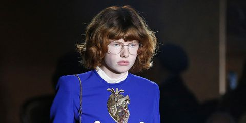 4db5b2c8047 Skinny 90s Brows And Badly Painted Nails Gave Gucci A Teenage Twist
