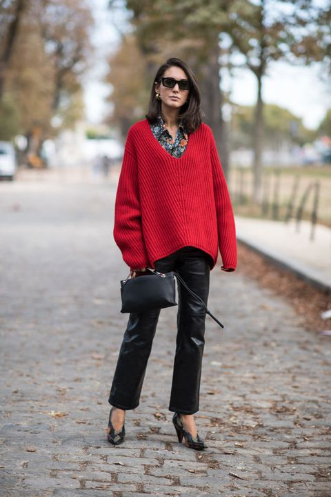 Clothing, Street fashion, Red, Jeans, Photograph, Black, Fashion, Orange, Maroon, Brown,