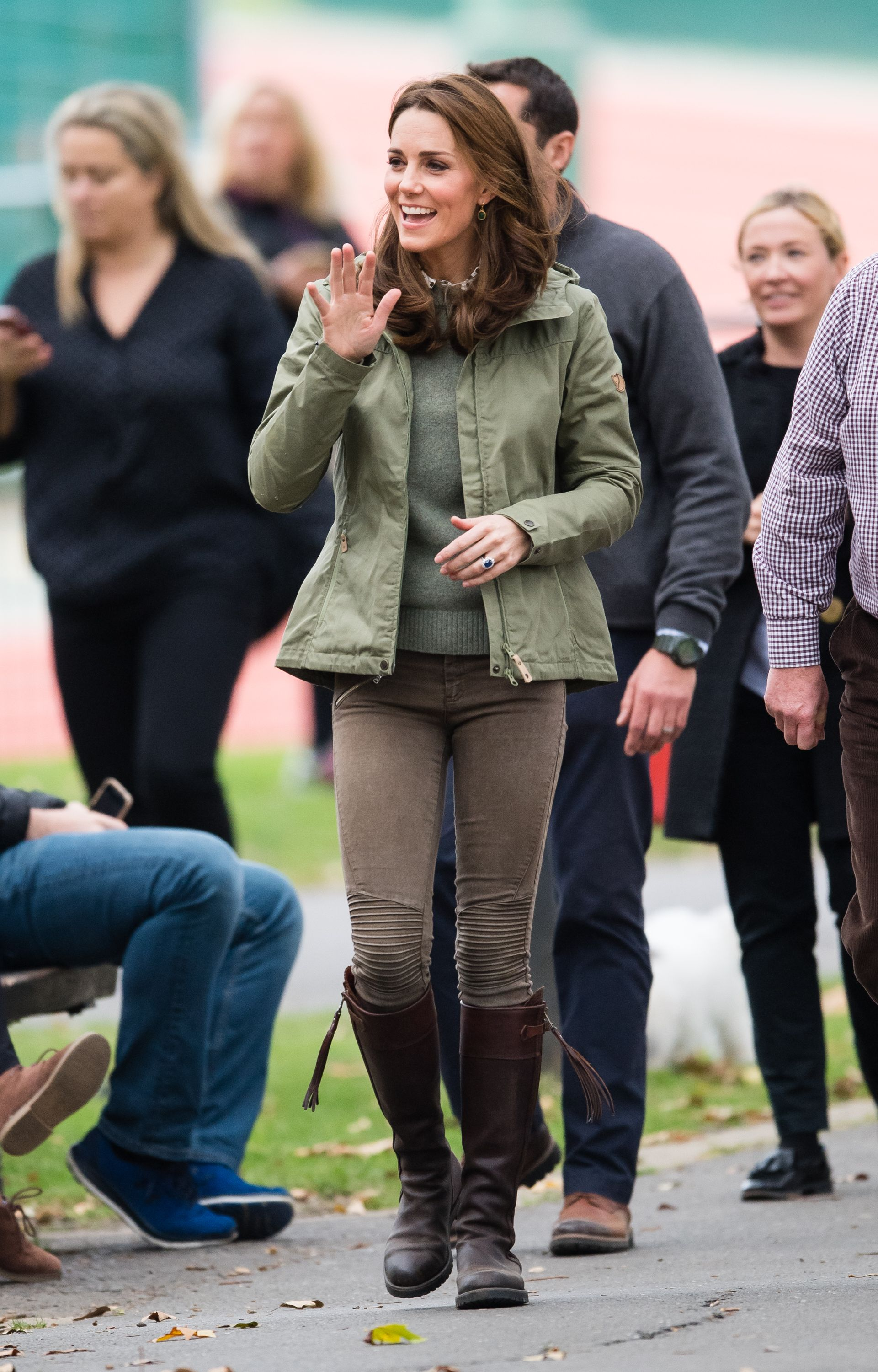 3de0277e376 Kate Middleton Wore an Army Green Fjallraven Jacket for Her Return From  Maternity Leave