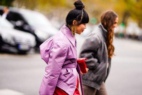 People, Photograph, Street fashion, Pink, Fashion, Yellow, Street, Snapshot, Human, Infrastructure,