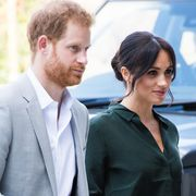 bognor regis, united kingdom   october 03  prince harry, duke of sussex and meghan, duchess of sussex visits university of chichesters engineering and digital technology park during an official visit to sussex on october 3, 2018 in bognor regis, united kingdom the duke and duchess married on may 19th 2018 in windsor and were conferred the duke  duchess of sussex by the queen  the duke and duchess married on may 19th 2018 in windsor and were conferred the duke  duchess of sussex by the queen  photo by samir husseinsamir husseinwireimage