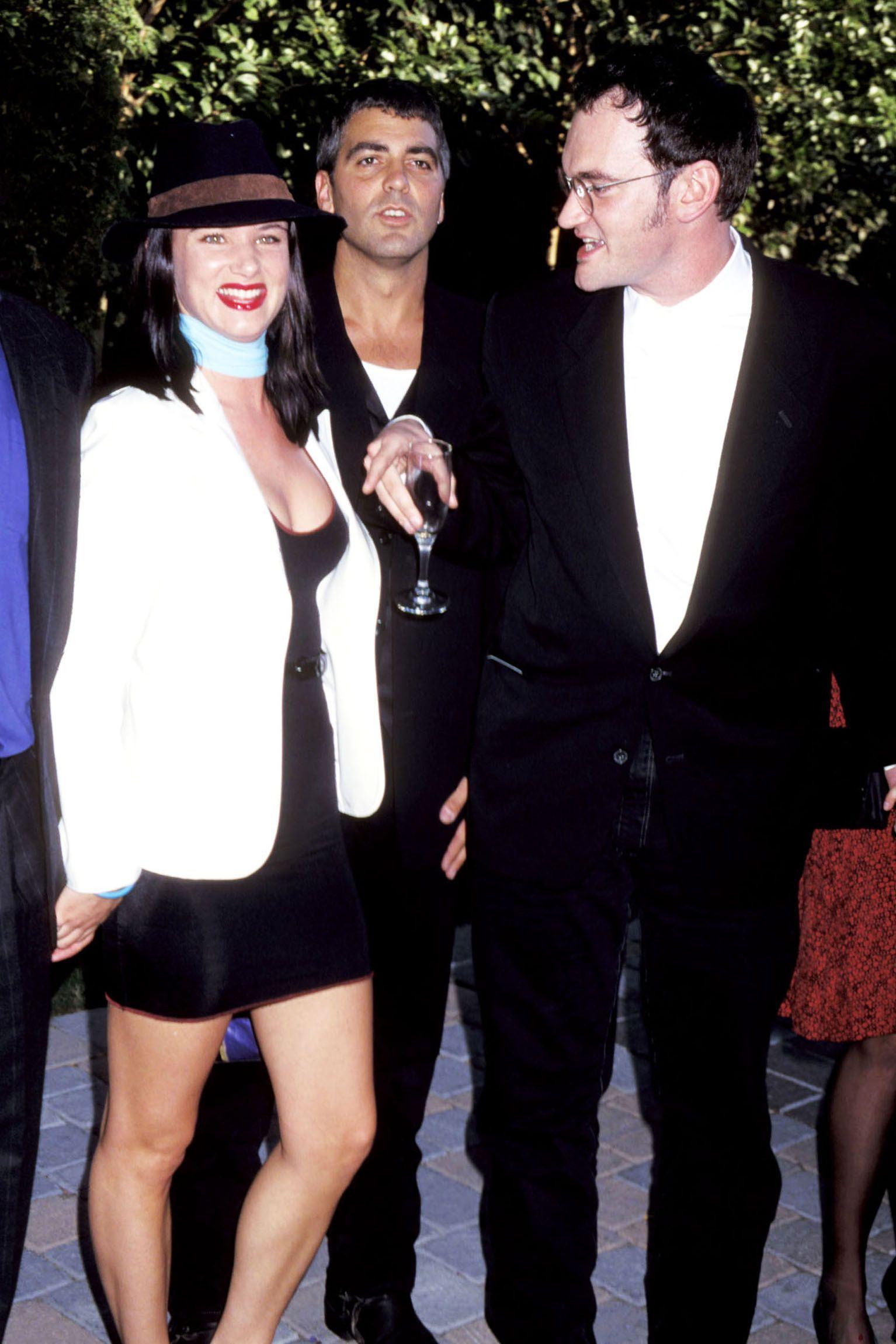 Juliette Lewis, Clooney, and Quentin Tarantino in Burbank, Ca.