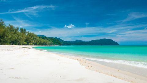 Body of water, Beach, Sky, Sea, Blue, Shore, Nature, Ocean, Tropics, Water,