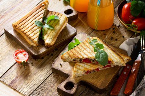 Food, Dish, Cuisine, Sandwich, Ingredient, Toast, Croque-monsieur, Panini, Finger food, Breakfast,