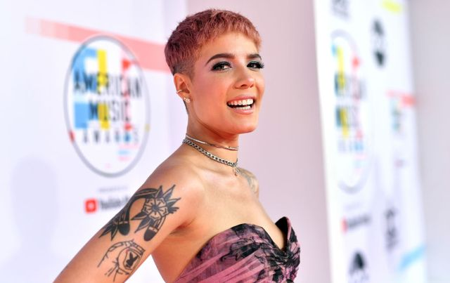 los angeles, ca   october 09 halsey attends the 2018 american music awards at microsoft theater on october 9, 2018 in los angeles, california  photo by emma mcintyregetty images for dcp