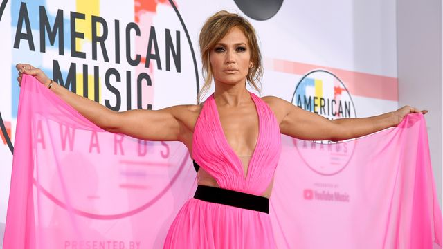los angeles, ca   october 09  jennifer lopez attends the 2018 american music awards at microsoft theater on october 9, 2018 in los angeles, california  photo by kevork djanseziangetty images for dcp