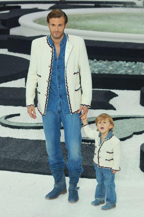Jeans, Clothing, Denim, Suit, Fashion, Outerwear, Standing, Jacket, Blazer, Street fashion,