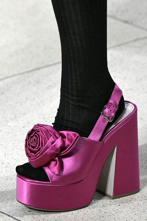 Footwear, High heels, Pink, Shoe, Purple, Magenta, Leg, Fashion, Ankle, Sandal,