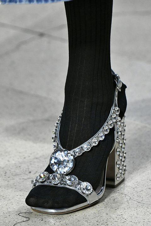 Footwear, Shoe, High heels, Fashion, Leg, Fashion accessory, Ankle, Silver, Sandal, Black-and-white,