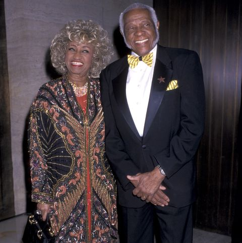 celia cruz  husband pedro knight during valentino party at the four seasons restaurant   june 14, 2000 at four seasons restaurant in new york city, new york, united states photo by ron galellaron galella collection via getty images