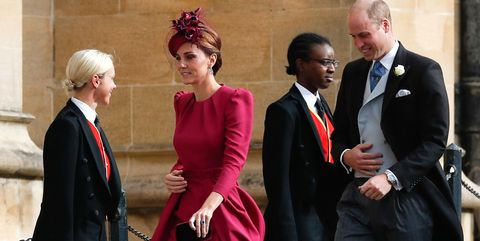 b1dc1d86a0d1e6 Kate Middleton Wears Alexander McQueen Dress to Princess Eugenie and ...