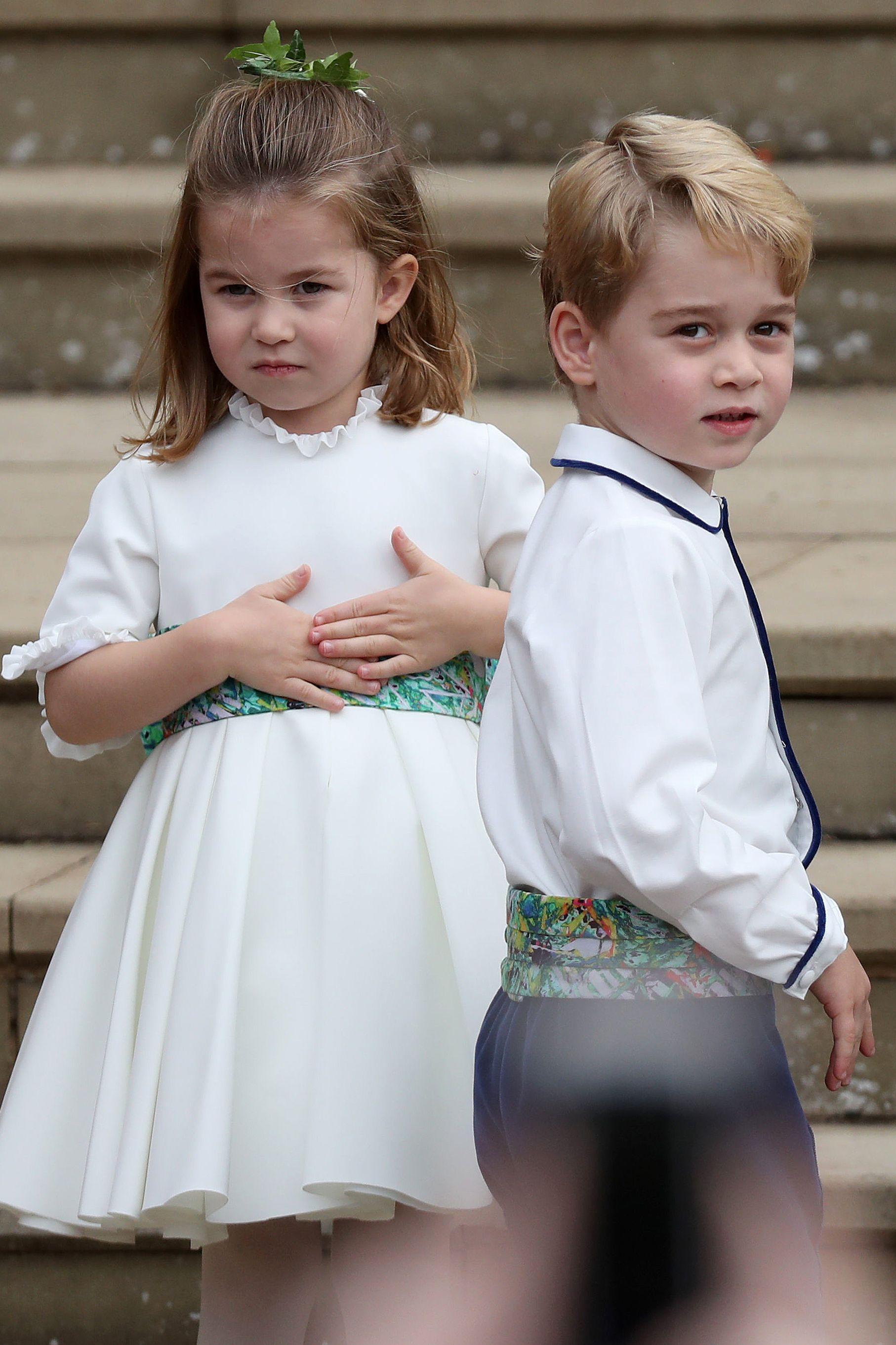 英國皇室,夏綠蒂公主,喬治王子,童裝,花童