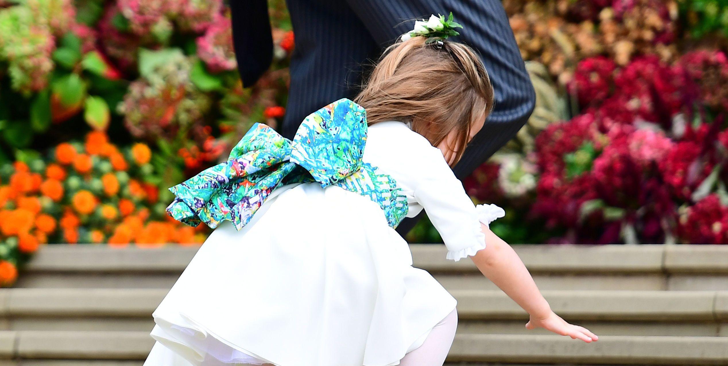 Princess Charlotte Fell on the Steps on Her Way Into Princess Eugenie's Royal Wedding