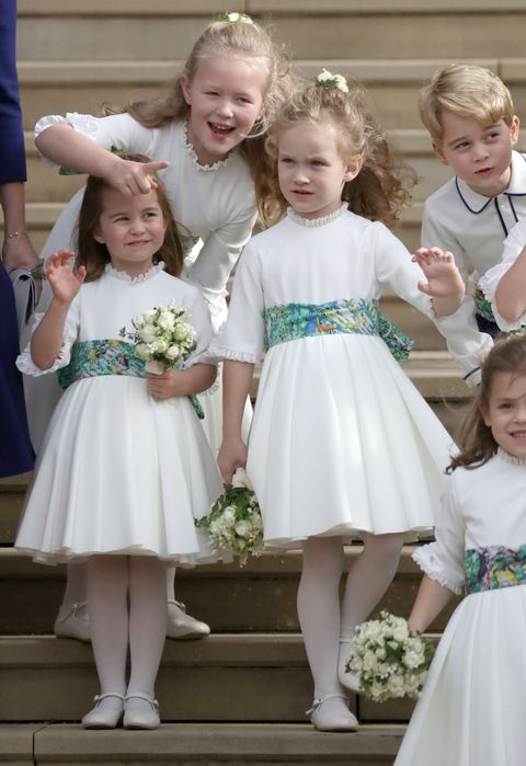 Child, Dress, Ceremony, Event, Bridal party dress, Wedding ceremony supply, Gown, Wedding, Flower, Sibling,