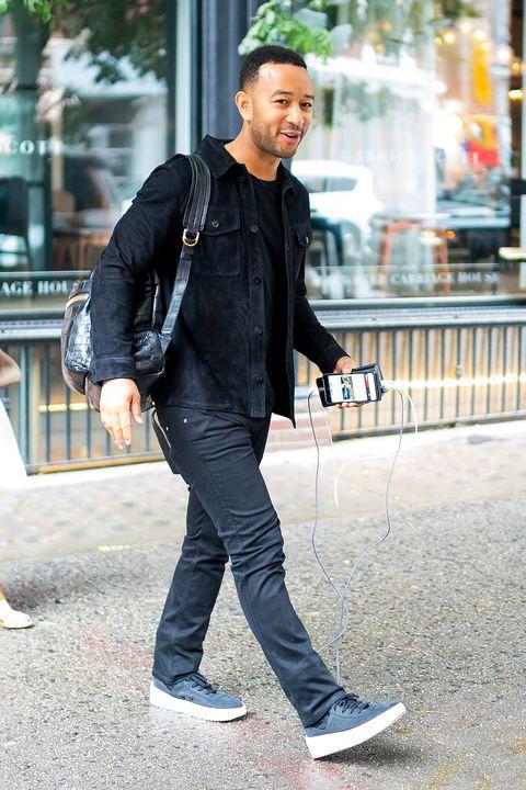 Street fashion, Photograph, Clothing, Snapshot, Standing, Fashion, Footwear, Jacket, Outerwear, Street,