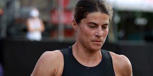 sarah, true, triatleta, olimpica, golpe, calor