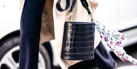 White, Black, Street fashion, Bag, Handbag, Plaid, Fashion, Pink, Shoulder, Fashion accessory,