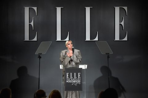 Lady Gaga chose oversized Marc Jacobs suit for Elle event to 'take the power back'