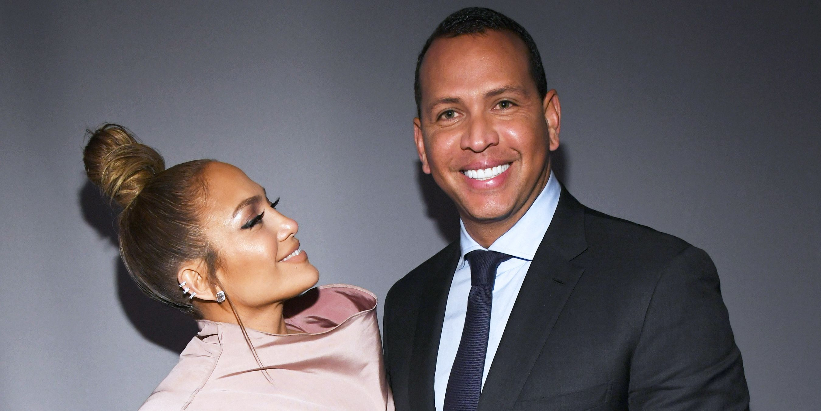 Jennifer Lopez and Alex Rodriguez at the 2018 Elle Women in Hollywood