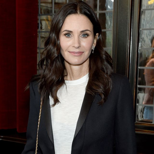 new york, ny   october 16  courteney cox wearing chanel at through her lens the tribeca chanel womens filmmaker program luncheon at locanda verde on october 16, 2018 in new york city  photo by dimitrios kambouriswireimage