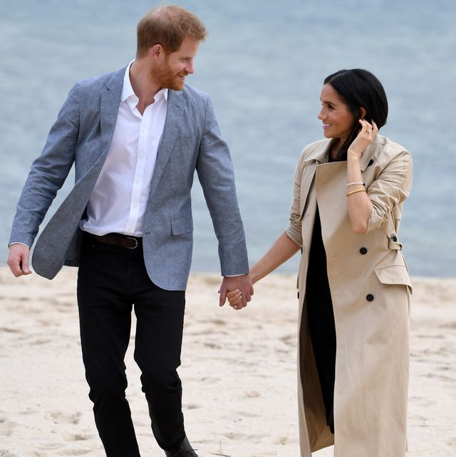 melbourne, australia   october 18  prince harry, duke of sussex and meghan, duchess of sussex attend an event on south melbourne beach on october 18, 2018 in melbourne, australia the duke and duchess of sussex are on their official 16 day autumn tour visiting cities in australia, fiji, tonga and new zealand  photo by james d morganwireimage