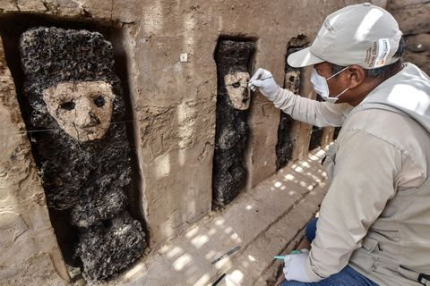Ídolos encontrados en Perú.