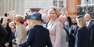 Máxima staatsbezoek Verenigd Koninkrijk jurk Claes Iversen